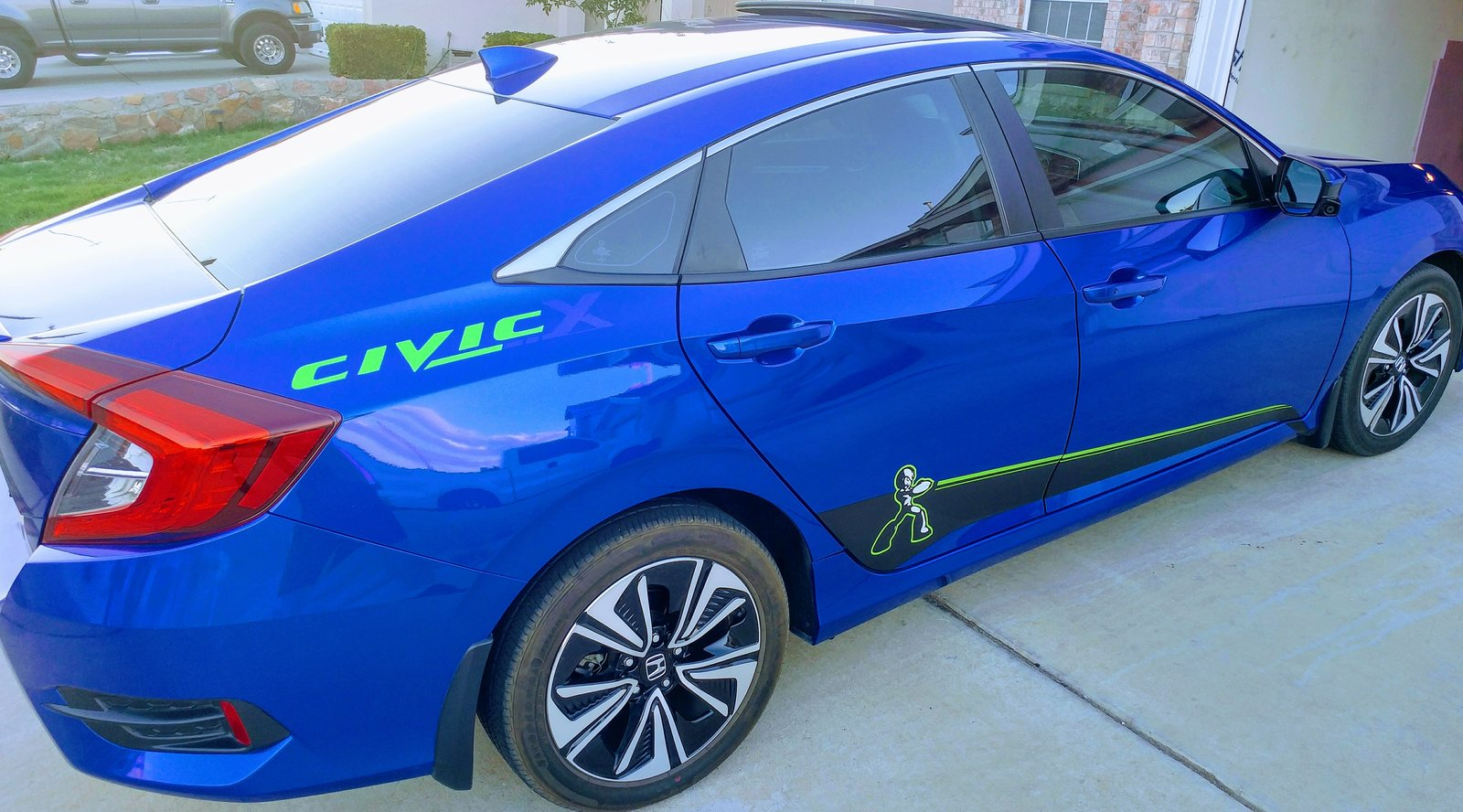 decals stickers civicx cafe civic honda si latest