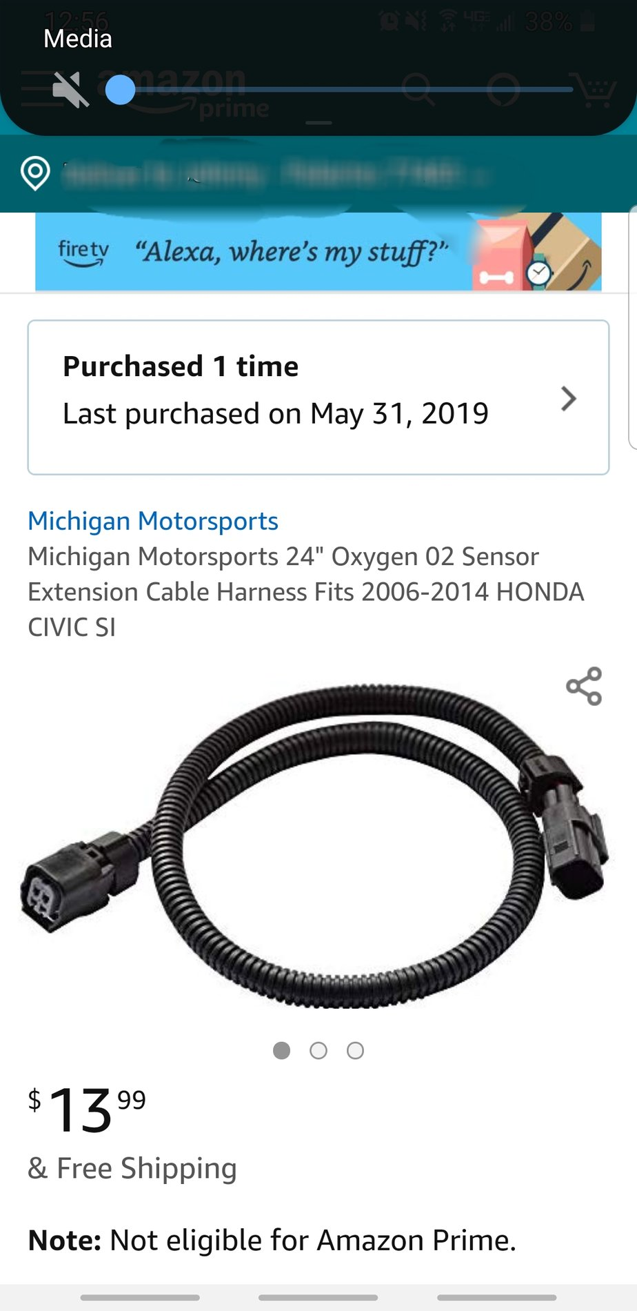 """O2 Oxygen Sensor Extension Cable Harness for 2006-2014 Honda Civic SI 24/"""""""